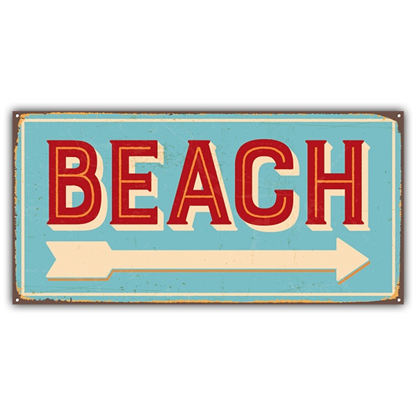 Wall Stickers: Beach sign retro