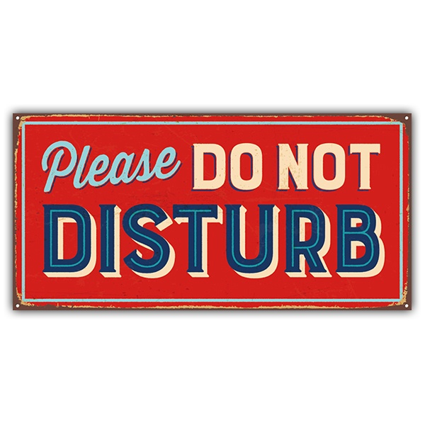 Wall Stickers: sign retro Please do not disturb