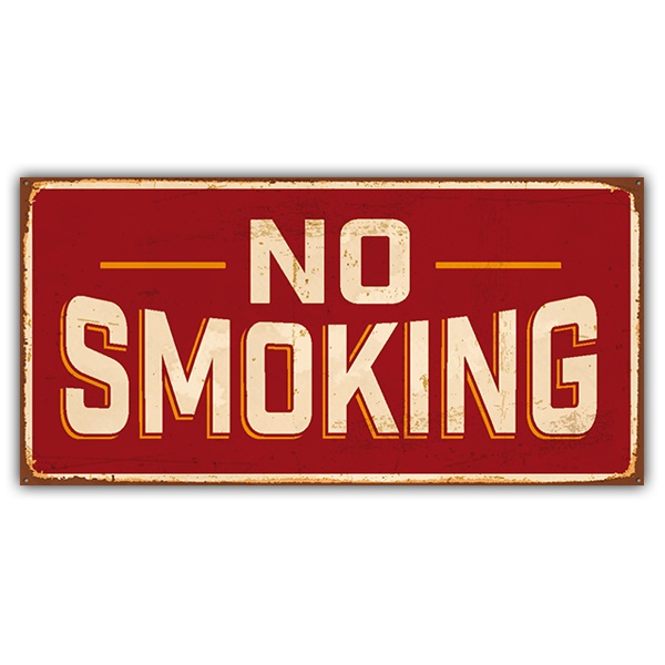 Wall Stickers:  No smoking sign retro
