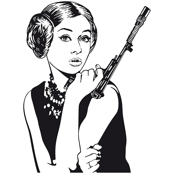 Wall Stickers: Audrey Leia