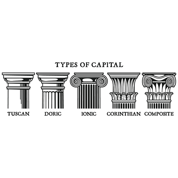 Wall Stickers: Classical capitals