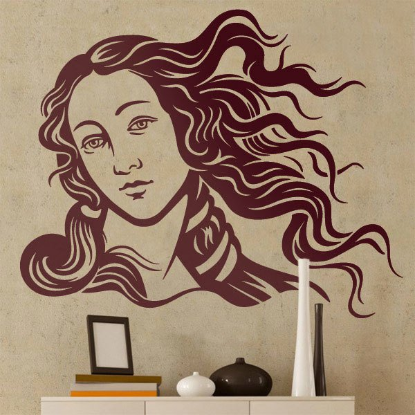 Wall Stickers: Face of the Venus by Botticelli