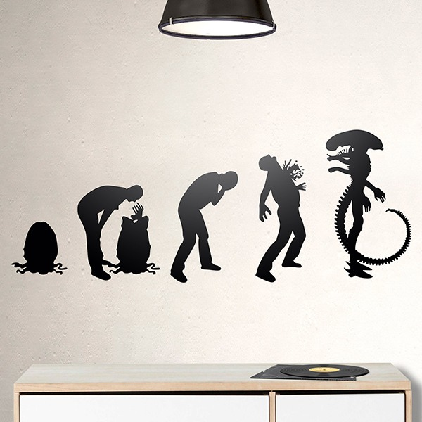 Wall Stickers: Alien evolution