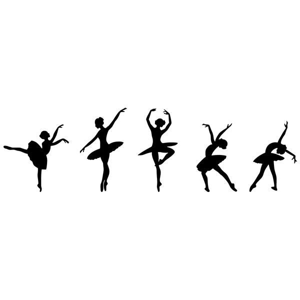 Wall Stickers: Ballet figures