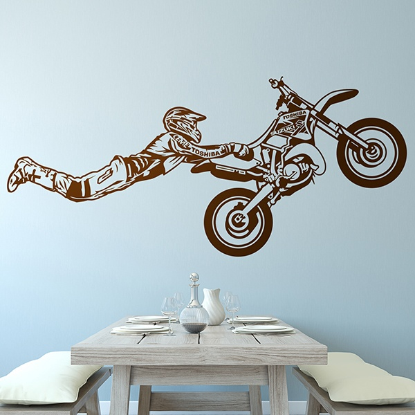 Wall Stickers: Superman jump motocross