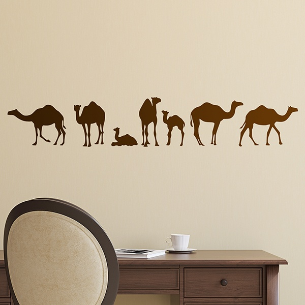 Wall Stickers: Family of dromedaries