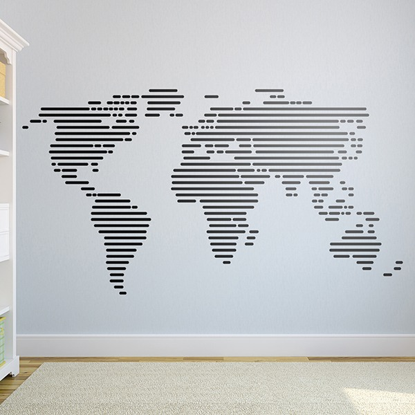 Wall Stickers: world map lines