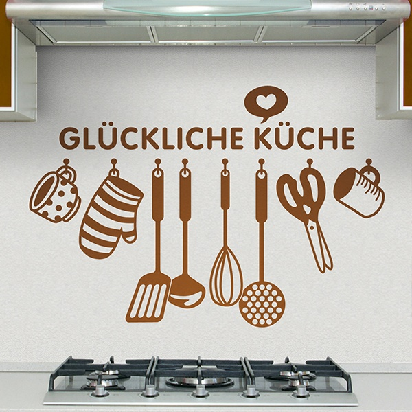 Wall Stickers: Happy kitchen - German