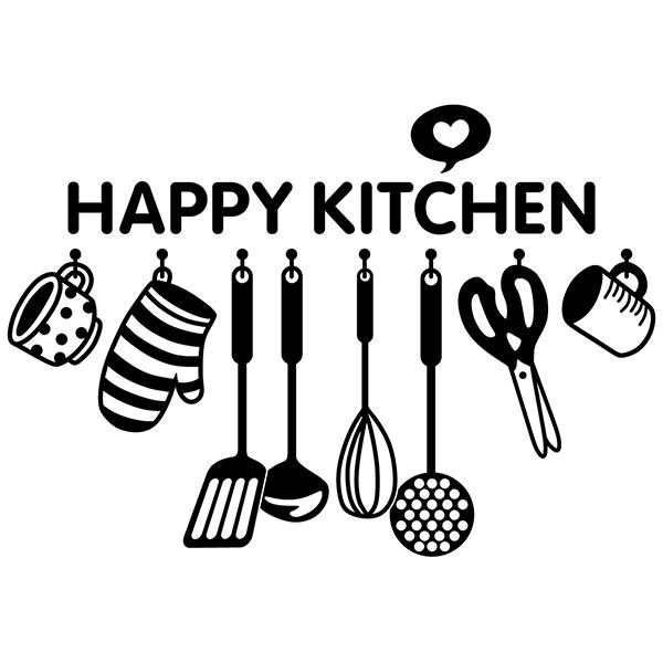 Wall Stickers: Happy kitchen