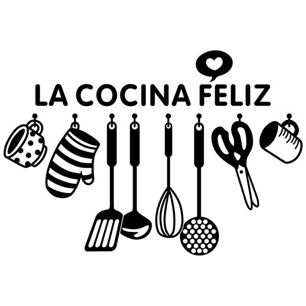 Wall Stickers: Happy kitchen - Spanish