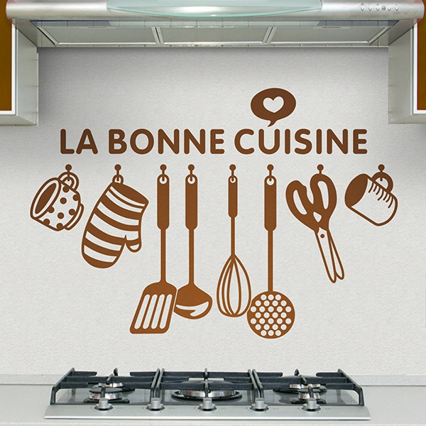 Wall Stickers: Happy kitchen - French