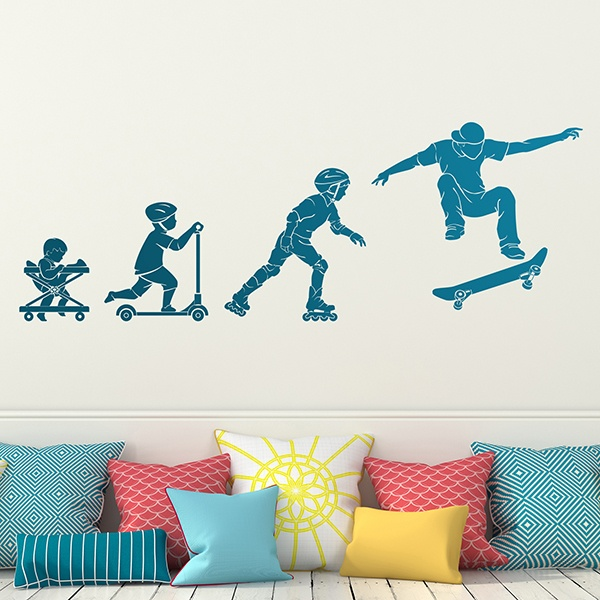 Wall Stickers: Evolution Skate