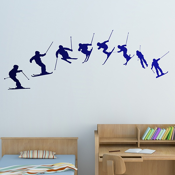 Wall Stickers: Ski Evolution 180º