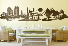 Wall Stickers: Skyline Cairo, Egypt 2