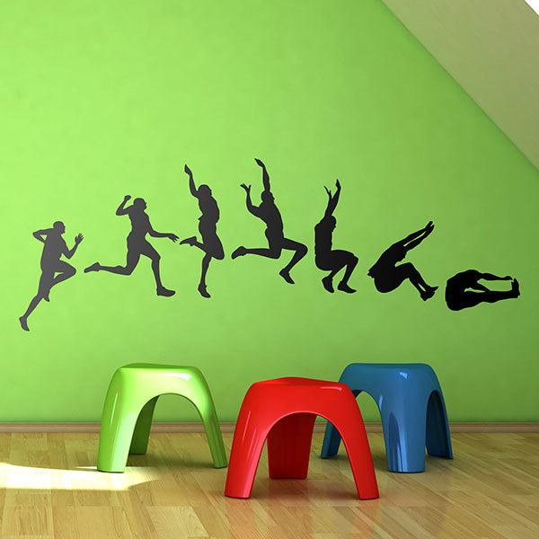 Wall Stickers: Evolution long jump