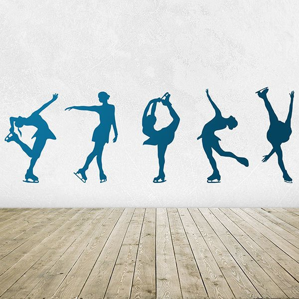 Wall Stickers: Figure skating silhouettes