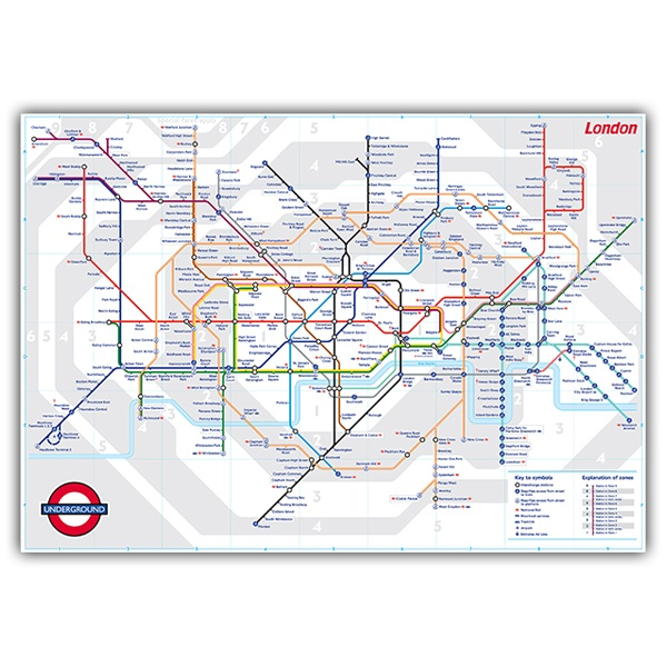 Wall Stickers: Map of the London Underground