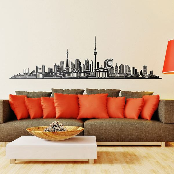 Berlin Stamp Wall Decal Sticker Vinyl Mural Leaving Bedroom Room Home Decor FREE SHIPPING L330