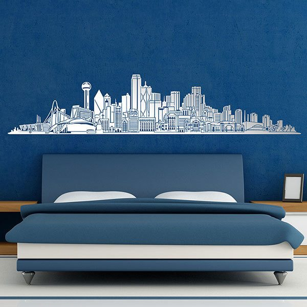 Wall Stickers: Dallas Skyline