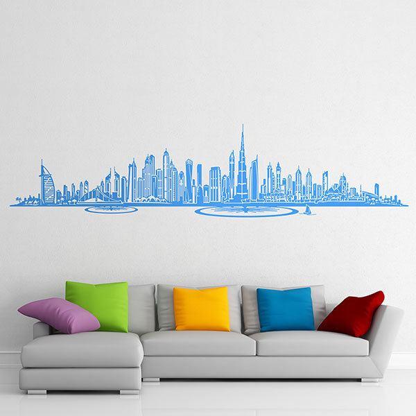 wall sticker dubai skyline | muraldecal