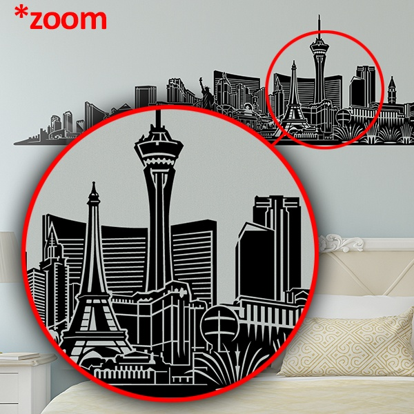 Wall Stickers: Las Vegas Skyline 2018