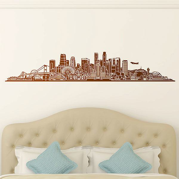 Wall Stickers: Los Angeles Skyline