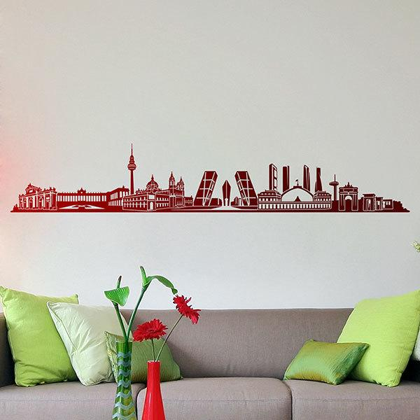 Wall Stickers: Madrid Skyline 2018