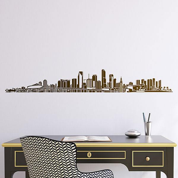 Wall Stickers: Miami Skyline 2018