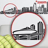 Wall Stickers: Miami Skyline 2018 5