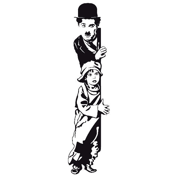 Wall stickers chaplin the kid