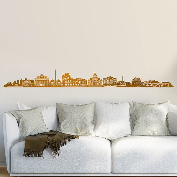 Wall Stickers: Rome Skyline 2018
