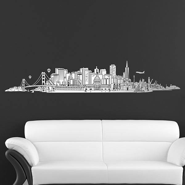 Wall Stickers: San Francisco Skyline