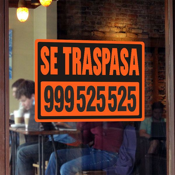 Wall Stickers: Orange Traspasa