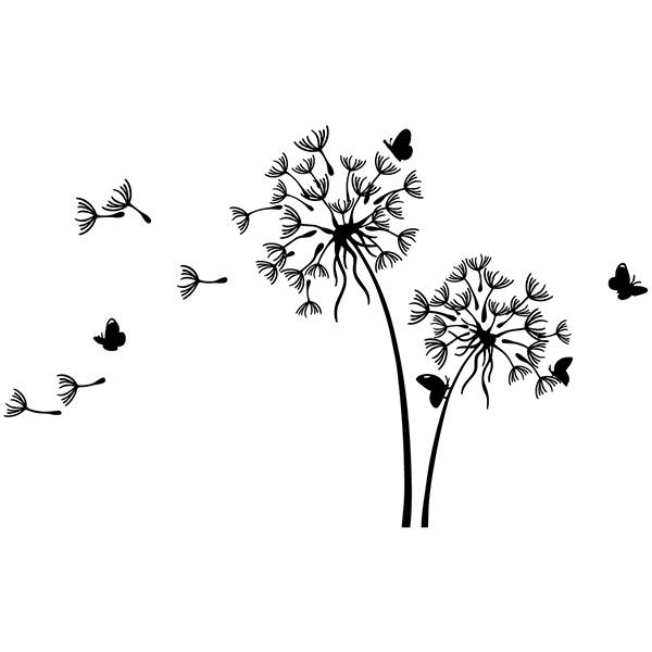 Wall Stickers: Dandelion in the wind