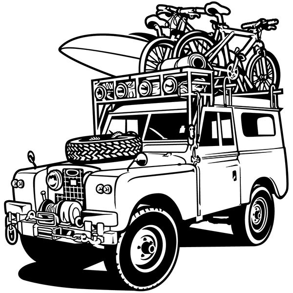 Wall Stickers: Land Rover Classic Adventure Sports