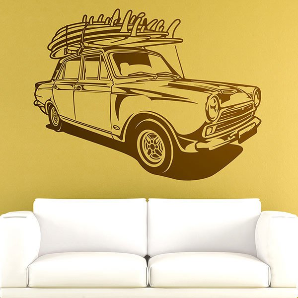 Wall Stickers: Classic Surf car
