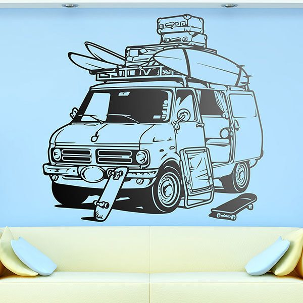 Wall Stickers: American van surf