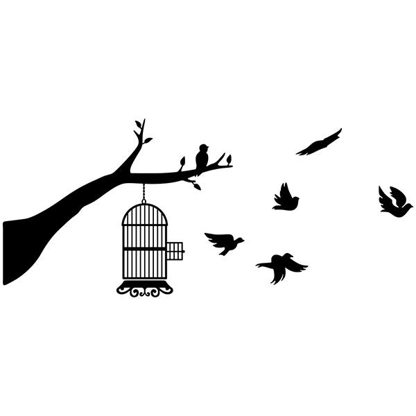 Wall Stickers: Birds out of the cage