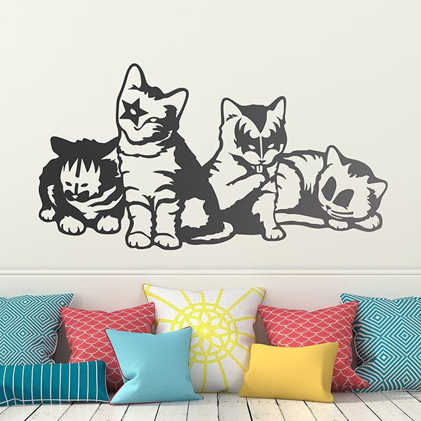 Wall Stickers: Kittens of the Kiss group