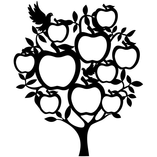 Wall Stickers: Genealogical Tree with Apples