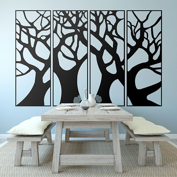 Wall Stickers: Forest framed