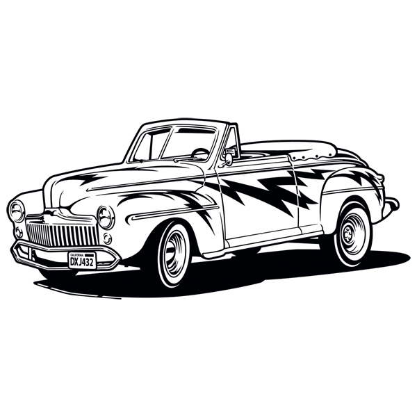 Wall Stickers: Grease, Ford Convertible 1948