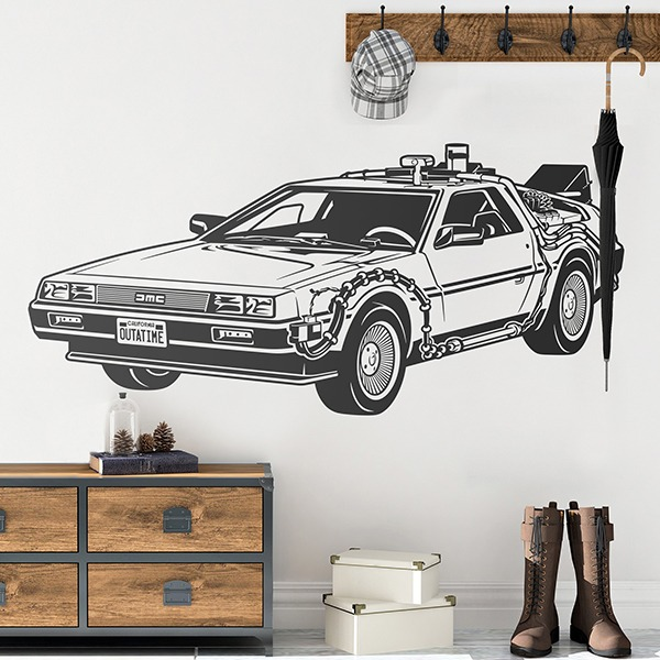 Wall Stickers: Doc's DeLorean