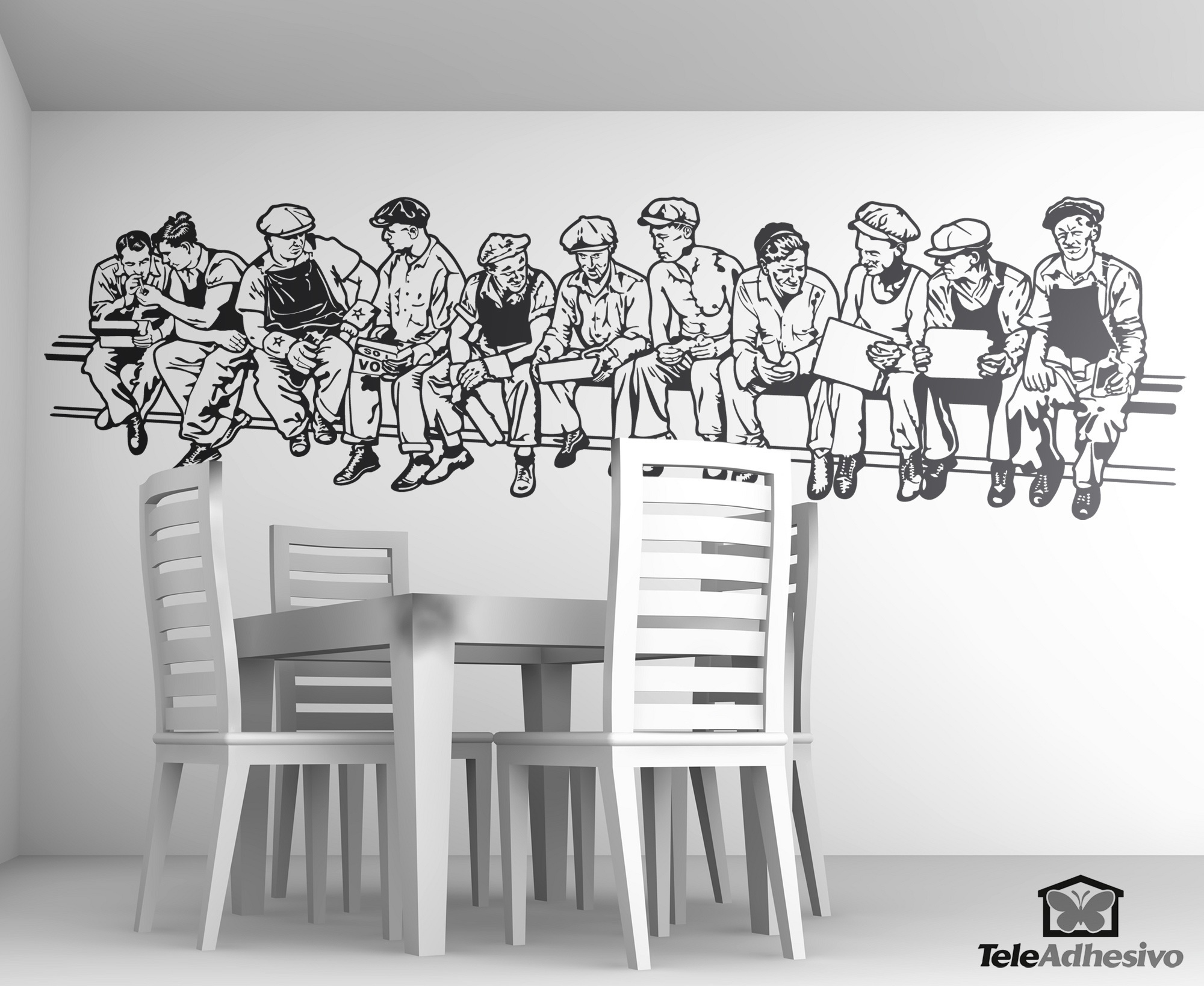 Wall Stickers: Men At Lunch Part 73