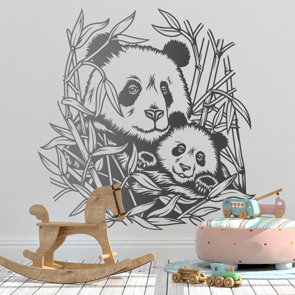 Wall Stickers: Panda Bears in Family