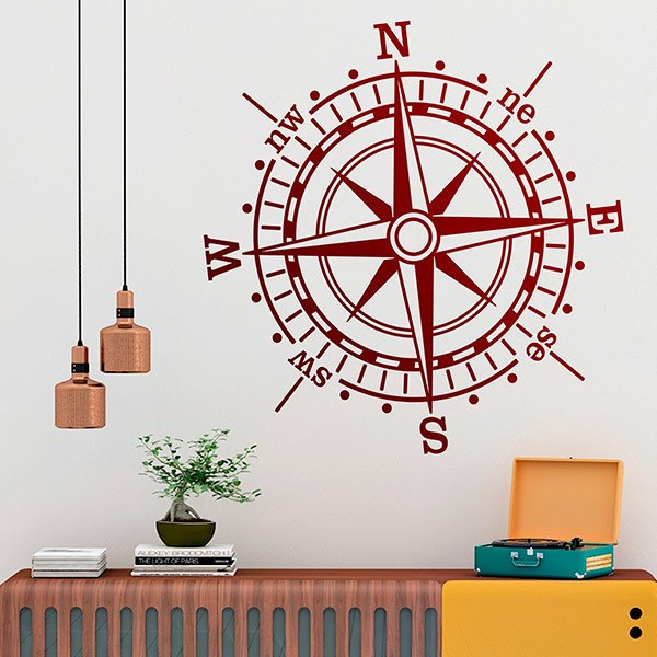 Wall Stickers: Rose of the Winds of the Sea