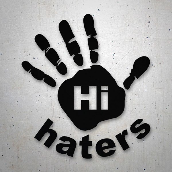 Car & Motorbike Stickers: Hi Haters