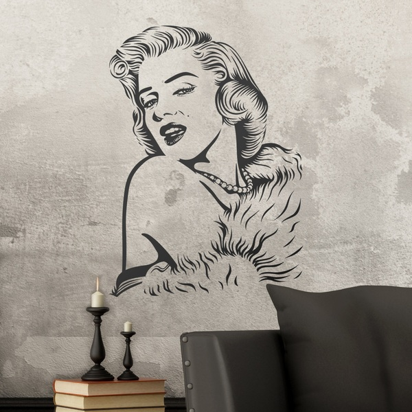 Wall Stickers: Marilyn Monroe perls