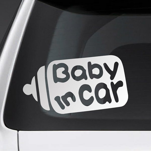 Car & Motorbike Stickers: Baby in car