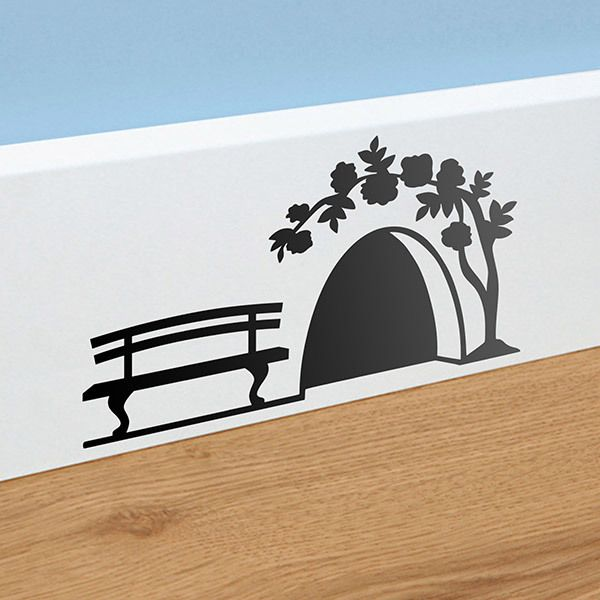 Wall Stickers: Tooth mouse house